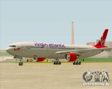 Airbus A330-300 Virgin Atlantic Airways для GTA San Andreas вид изнутри