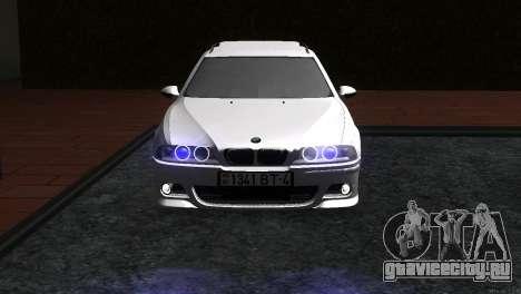 BMW 530d для GTA San Andreas вид сзади слева