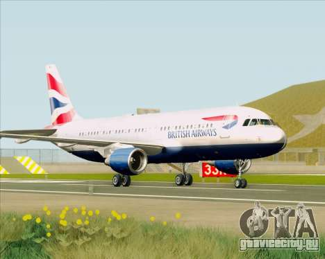 Airbus A320-232 British Airways для GTA San Andreas вид слева