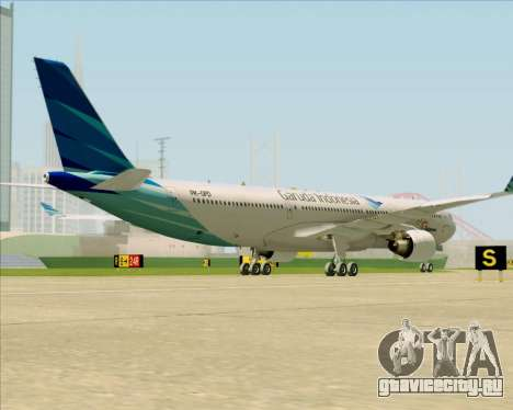 Airbus A330-300 Garuda Indonesia для GTA San Andreas вид справа