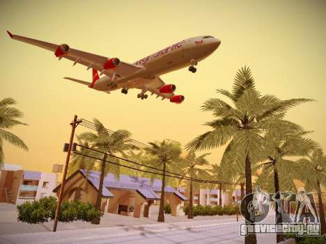 Airbus A340-300 Virgin Atlantic для GTA San Andreas вид сзади слева