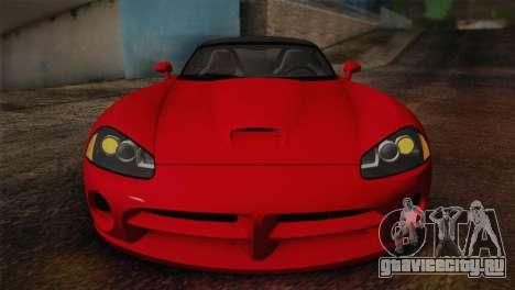 Dodge Viper SRT-10 2003 для GTA San Andreas вид справа