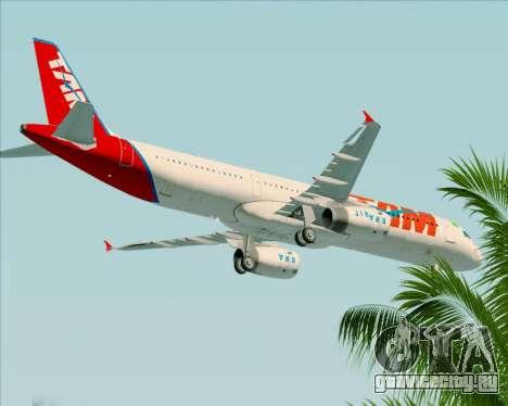 Airbus A321-200 TAM Airlines для GTA San Andreas вид сверху