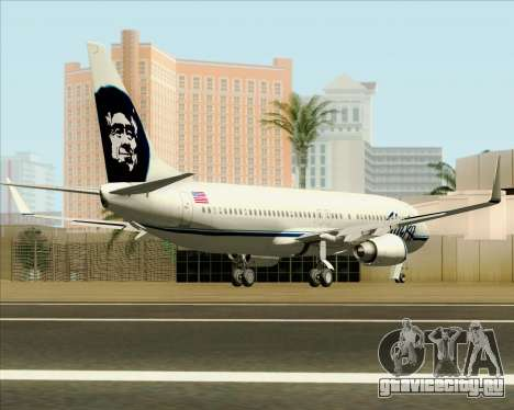 Boeing 737-890 Alaska Airlines для GTA San Andreas вид справа