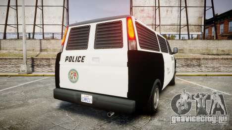 Declasse Burrito Police Transporter LED [ELS] для GTA 4 вид сзади слева