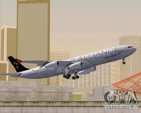 Airbus A340-311 Turkish Airlines (Star Alliance) для GTA San Andreas вид сбоку
