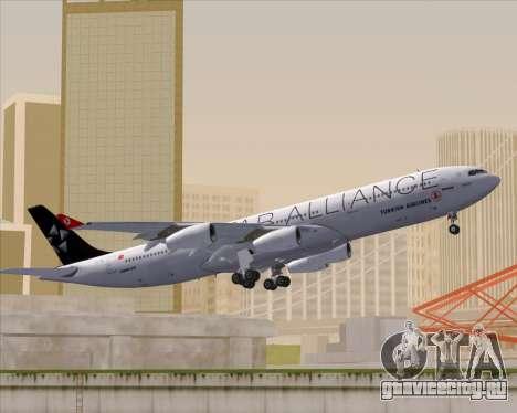 Airbus A340-311 Turkish Airlines (Star Alliance) для GTA San Andreas вид сбоку