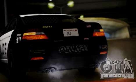 Vapid Police Interceptor from GTA V для GTA San Andreas вид сбоку