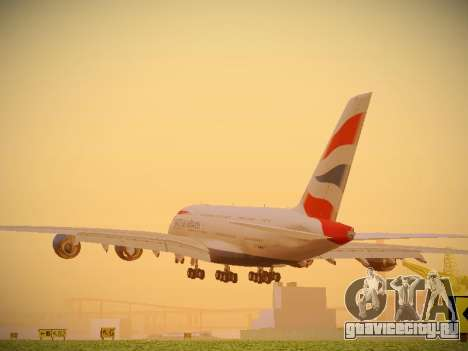 Airbus A380-800 British Airways для GTA San Andreas вид сзади слева