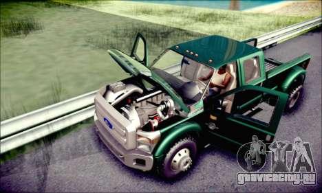Ford F450 Super Duty 2013 HD для GTA San Andreas вид сверху