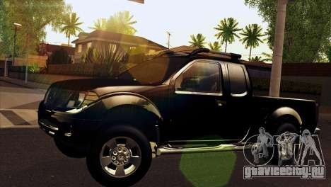 Nissan Frontier 2013 для GTA San Andreas вид сзади слева