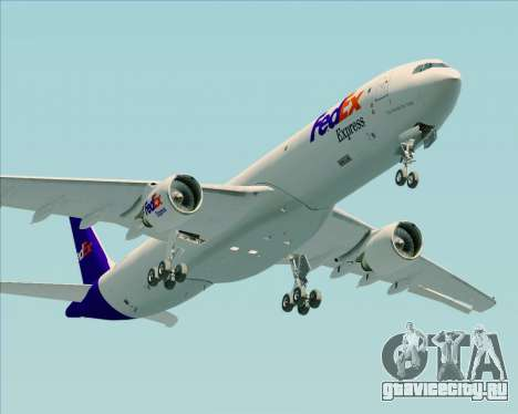 Airbus A330-300P2F Federal Express для GTA San Andreas вид изнутри