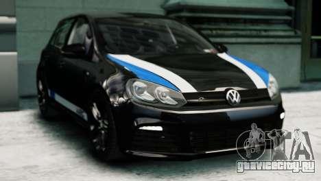 Volkswagen Golf R 2010 Polo WRC Style PJ1 для GTA 4 вид сзади слева