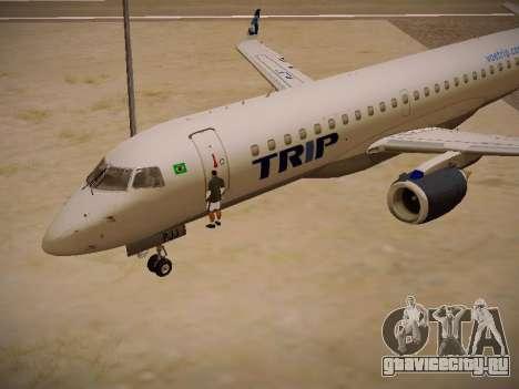 Embraer E190 TRIP Linhas Aereas Brasileira для GTA San Andreas вид изнутри