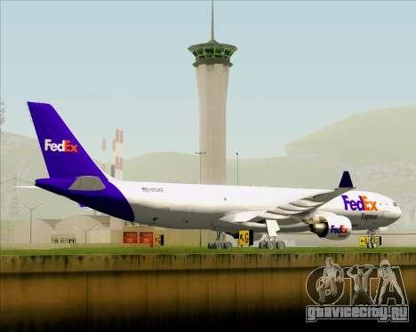 Airbus A330-300P2F Federal Express для GTA San Andreas вид сверху