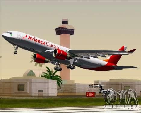 Airbus A330-243F Avianca Cargo для GTA San Andreas вид сбоку