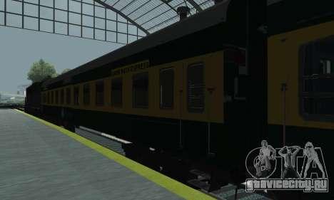 Garib Rath Express для GTA San Andreas вид сзади слева