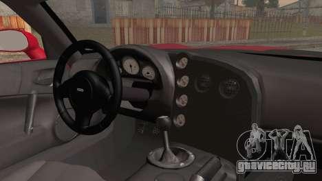 Dodge Viper SRT-10 2003 для GTA San Andreas вид сзади слева