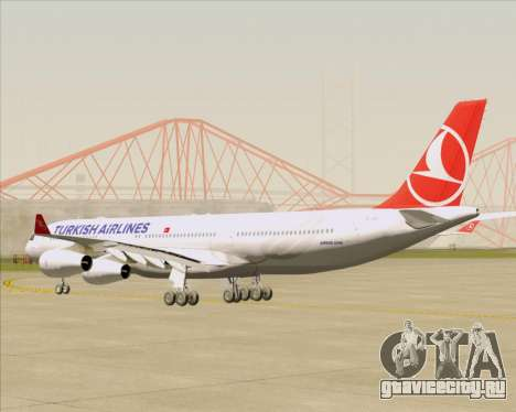 Airbus A340-313 Turkish Airlines для GTA San Andreas вид справа
