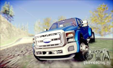 Ford F450 Super Duty 2013 HD для GTA San Andreas вид сзади