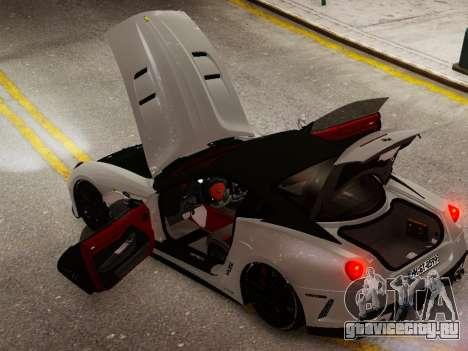 Ferrari 599 GTO для GTA 4 вид сзади