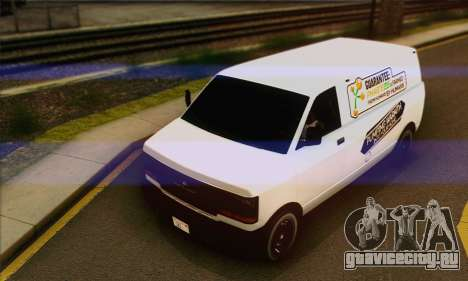 Declasse Burrito from GTA V (IVF) для GTA San Andreas вид сверху