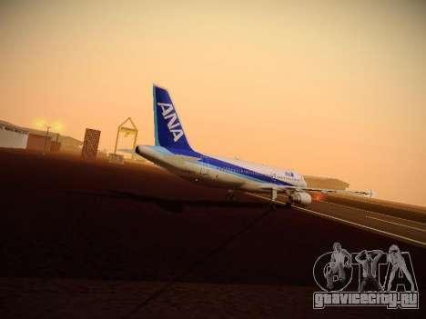 Airbus A320-211 All Nippon Airways для GTA San Andreas двигатель