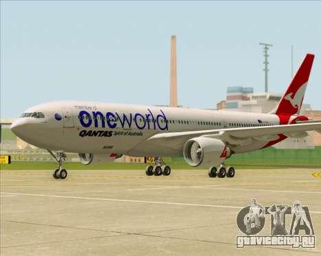 Airbus A330-200 Qantas Oneworld Livery для GTA San Andreas вид слева