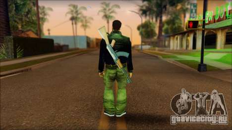 Gun and No Shades Claude для GTA San Andreas второй скриншот