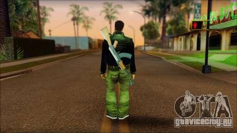 Gun and No Shades Claude для GTA San Andreas второй скриншот