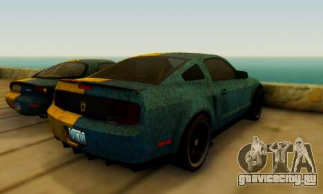 Ford Mustang Shelby Terlingua 2008 UA PJ для GTA San Andreas вид сзади слева