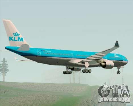 Airbus A330-300 KLM Royal Dutch Airlines для GTA San Andreas вид сзади