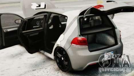 Volkswagen Golf R 2010 Driving Experience для GTA 4 вид сзади