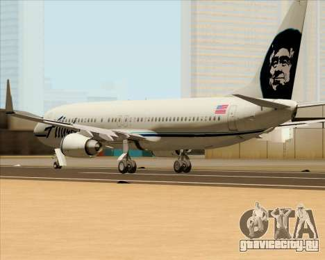 Boeing 737-890 Alaska Airlines для GTA San Andreas вид сзади слева