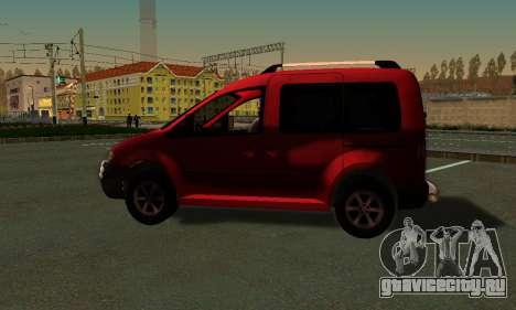 Volkswagen Caddy для GTA San Andreas вид слева