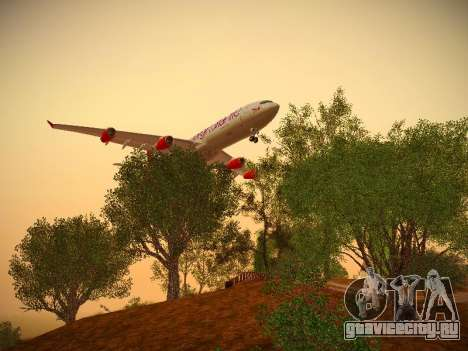 Airbus A340-300 Virgin Atlantic для GTA San Andreas вид сзади