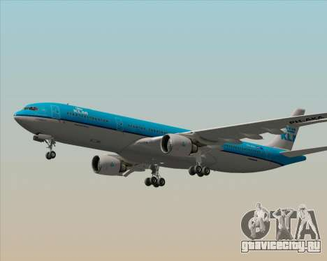 Airbus A330-300 KLM Royal Dutch Airlines для GTA San Andreas вид снизу