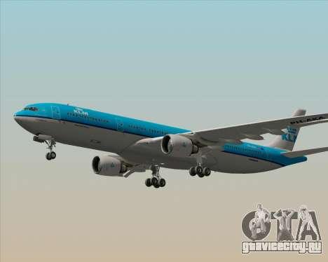 Airbus A330-300 KLM Royal Dutch Airlines для GTA San Andreas вид снизу