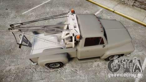 Vapid Tow Truck Jackrabbit для GTA 4 вид справа