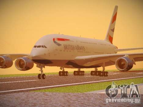 Airbus A380-800 British Airways для GTA San Andreas