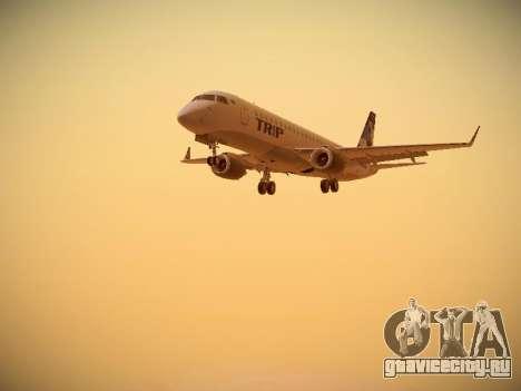 Embraer E190 TRIP Linhas Aereas Brasileira для GTA San Andreas вид слева
