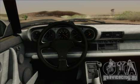 RUF CTR Yellowbird 1987 для GTA San Andreas вид изнутри