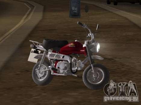 Honda Z50J Monkey для GTA San Andreas вид изнутри