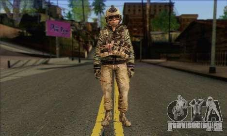 Task Force 141 (CoD: MW 2) Skin 17 для GTA San Andreas