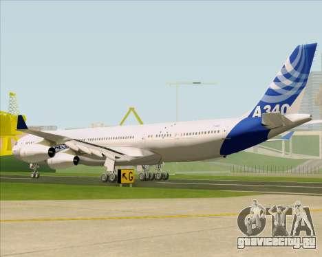 Airbus A340-311 House Colors для GTA San Andreas вид сзади слева