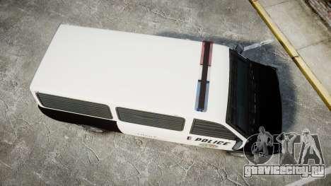 Declasse Burrito Police Transporter LED [ELS] для GTA 4 вид справа