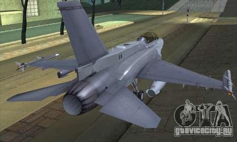 F-16D Block 60 для GTA San Andreas вид слева
