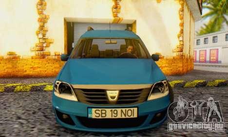 Dacia Logan MCV для GTA San Andreas вид слева