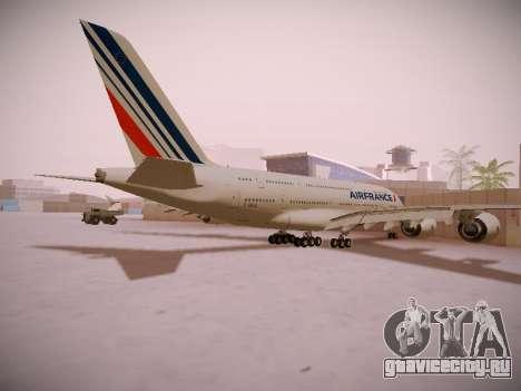 Airbus A380-800 Air France для GTA San Andreas вид справа