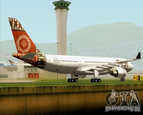 Airbus A330-200 Fiji Airways для GTA San Andreas вид справа